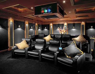 theaters throughout living room home design new | Home Theater | Decoração do quarto