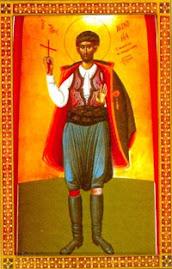 O Άγιος Nεομάρτυς Mανουήλ ο Kρης, ο εν Xίω μαρτυρήσας εν έτει' αψζβ΄ [1792]