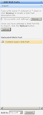 upload the web part file