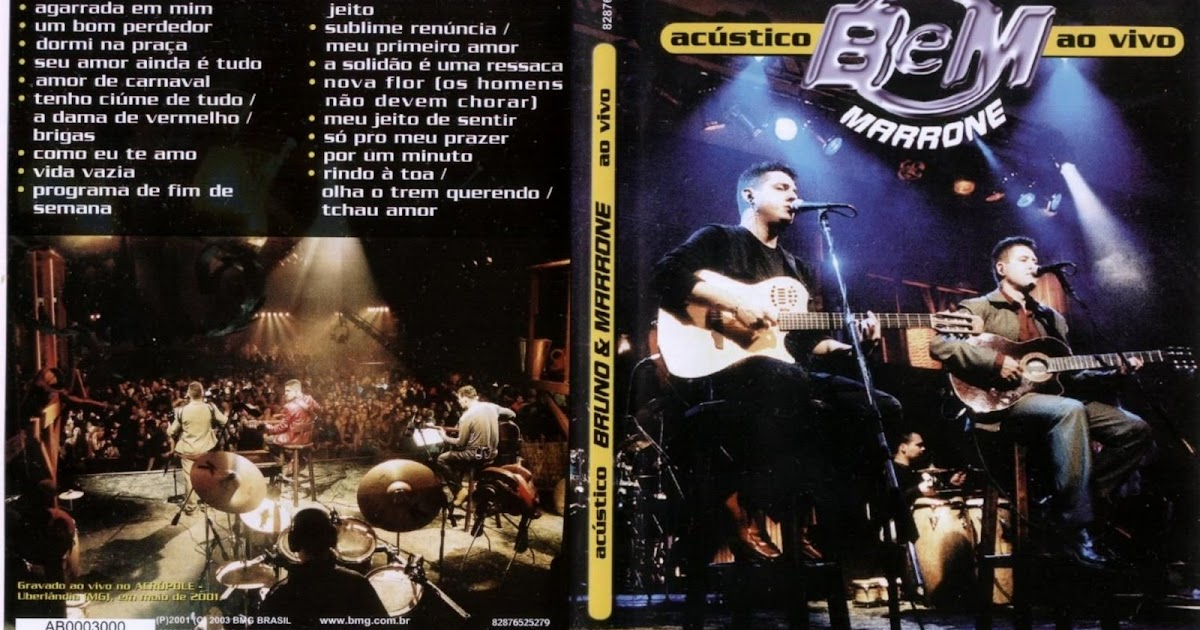 dvd bruno e marrone acustico ao vivo 2001