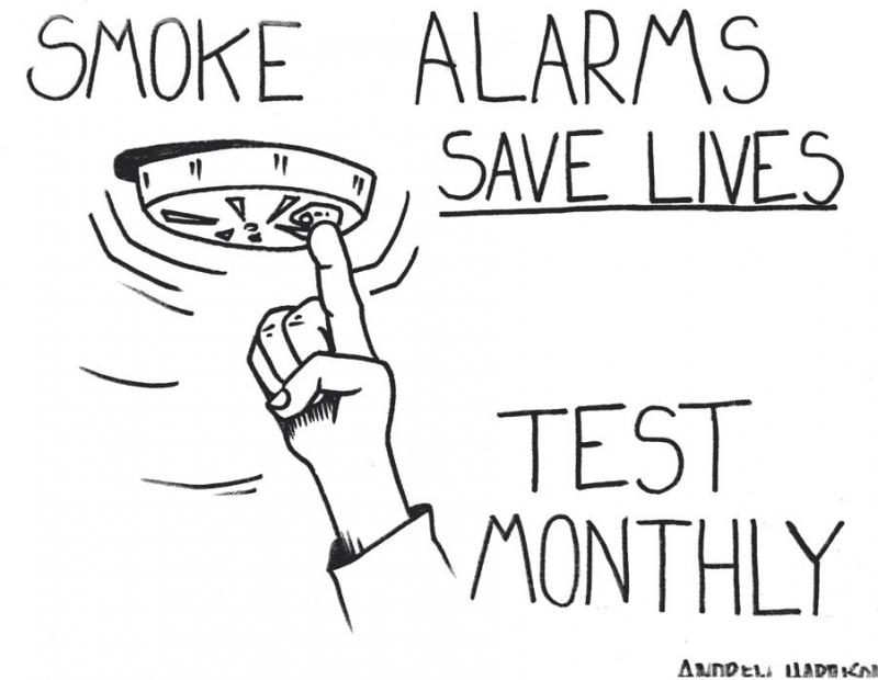 Smoke Detectors Fire Safety Coloring Contest Coloring Pages