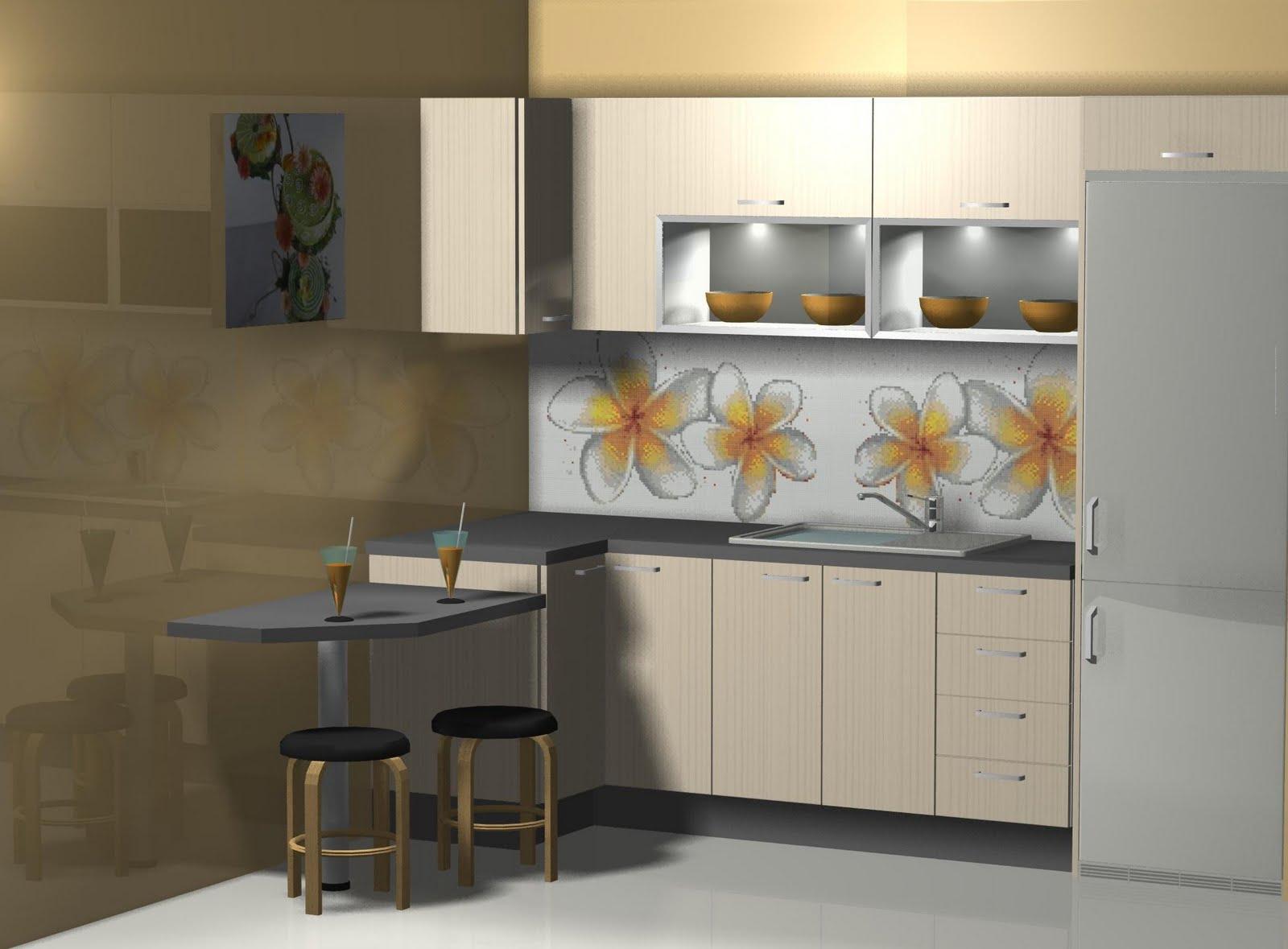 Dise o de cocina con barra para desayuno for Disenos de cocinas pequenas con barra