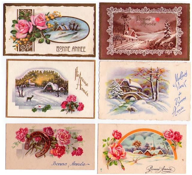 Petites cartes anciennes Bonne Année