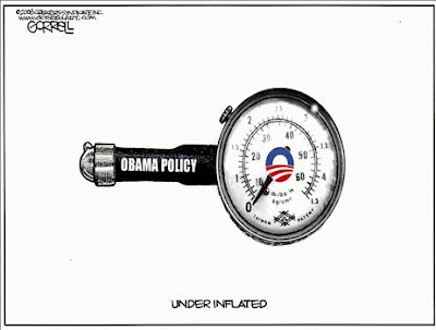 Obama's Policy: inflate tires - no oil drilling