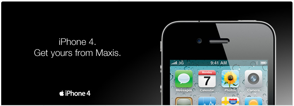 iPhone 4 Plan Rates and Price from Maxis! - iPhone MY