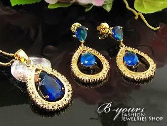B-Yours Fashion Jewelry Shop: Perhiasan Set ROYAL BLUE ...