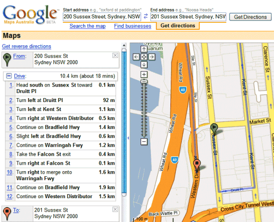 Google Maps Shows Funny Directions on mapquest driving directions, maps get directions, maps and directions,
