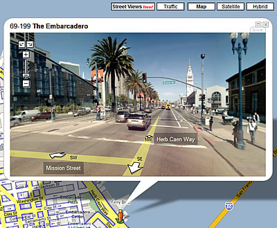 The Earth is Closer: Street Views in Google Maps