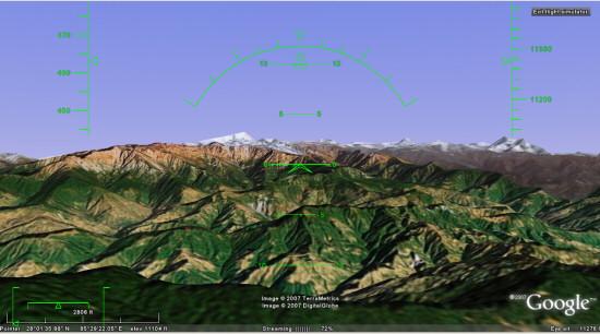 Google Earth Easter Egg: Flight Simulator