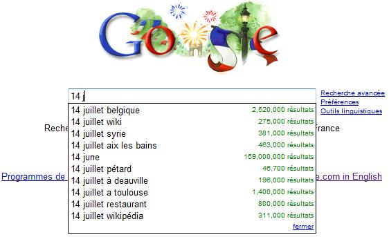 google homepage france