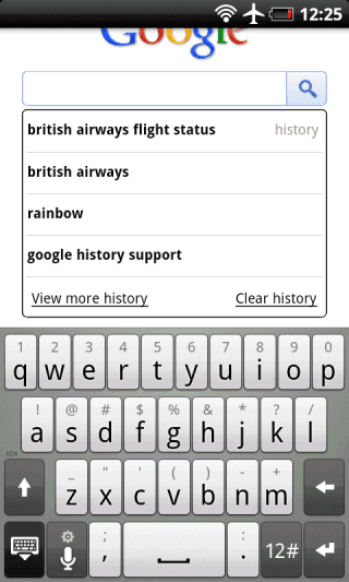 how to search google history on phone