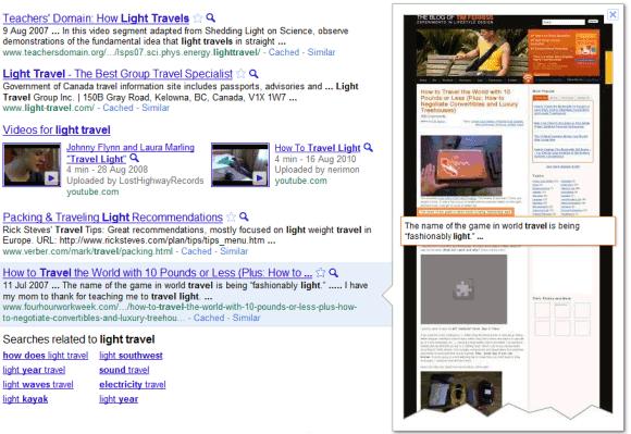 Google Instant Previews