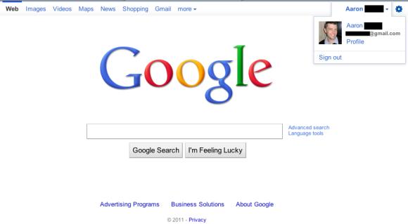 barra de navegacion google