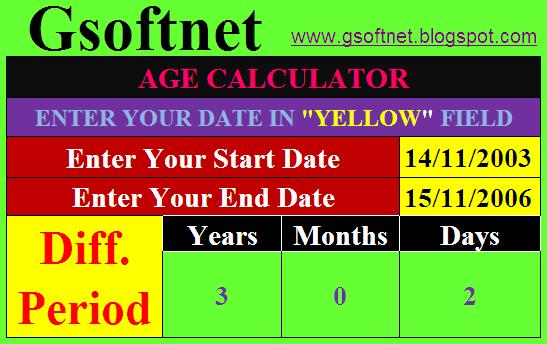 How to calculatre your Length of Service in Excel easily. ~ Gsoftnet