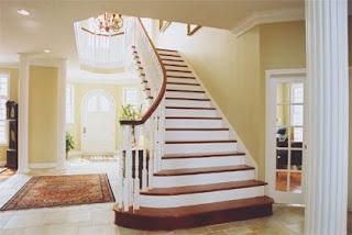 Escaleras de madera caracol for Escalera de cemento con descanso