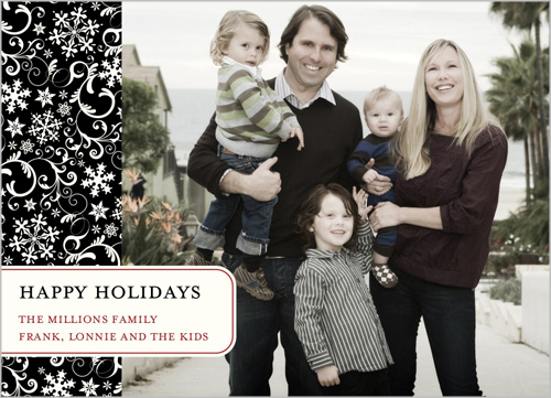 snowflake damask holiday card - Shutterfly Holiday Cards