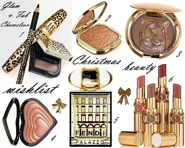 gold Christmas beauty makeup perfume wishlist