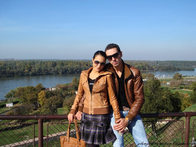 couple street style leather jackets