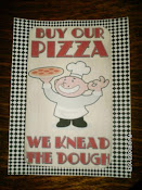 Sign I made for my Pizza Stand