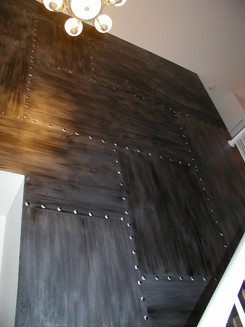 Jen Sparks Art And Extras Brushed Metal Wall With Rivets