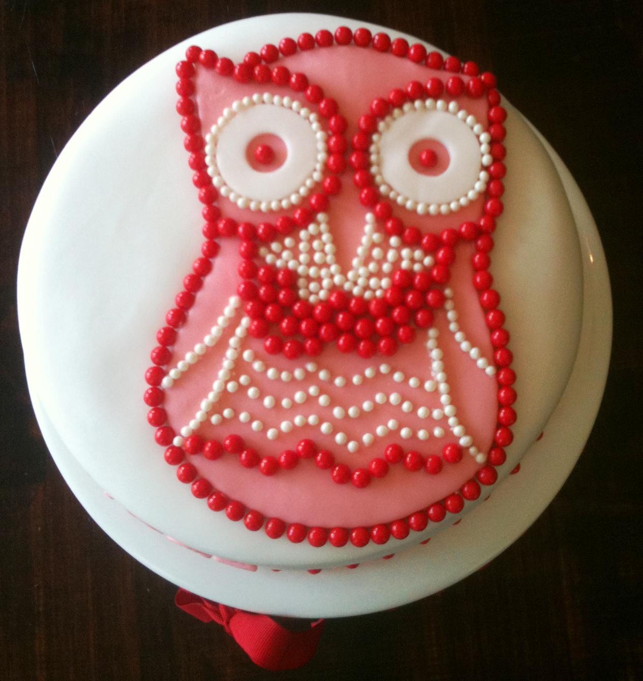 Sugar Candy Owl Cake