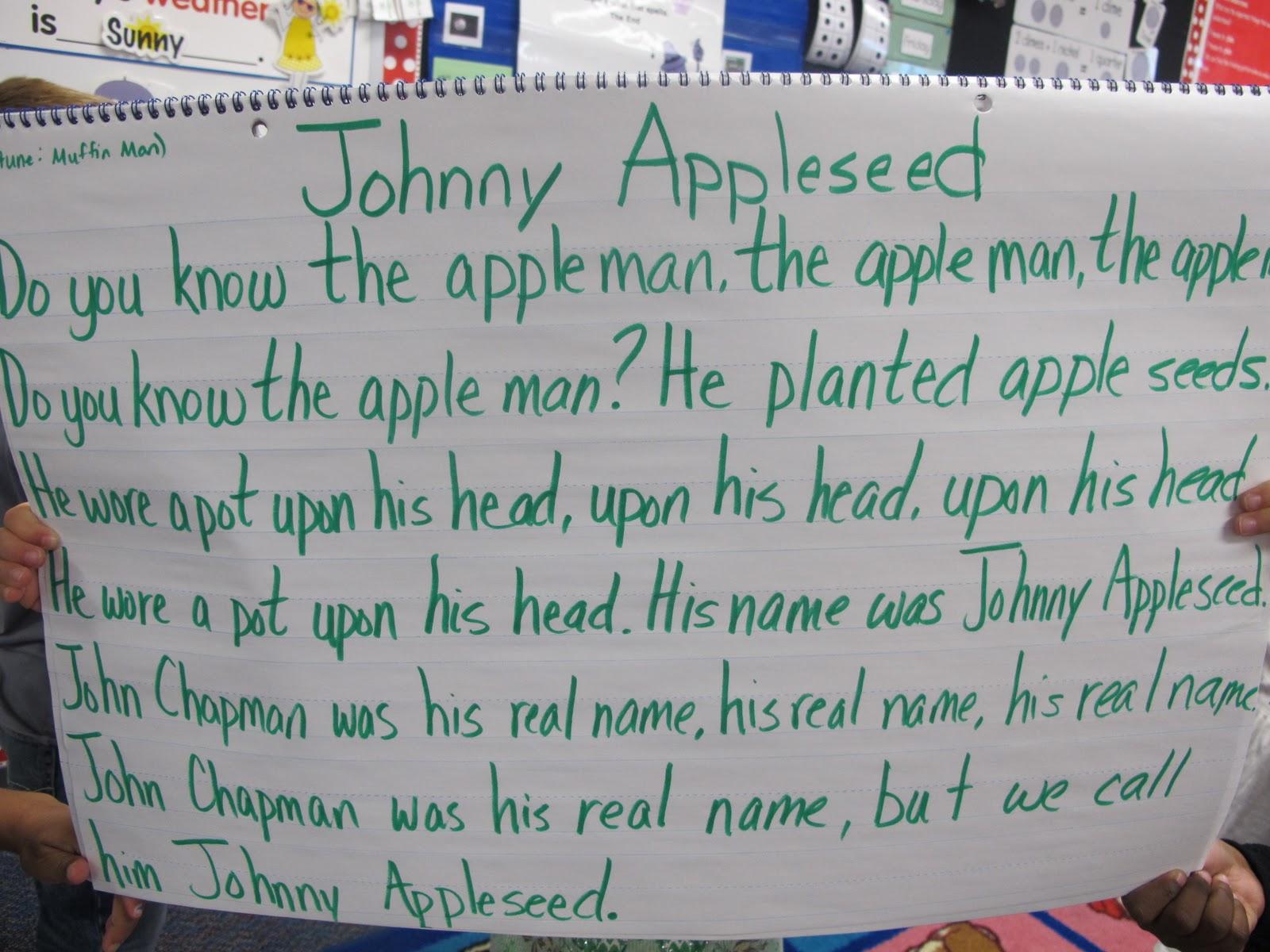 Mrs Patz S Kindergarten Johnny Appleseed