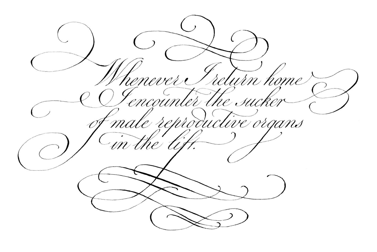 My Calligraphy Blog: Rude Calligraphy (September 2006)