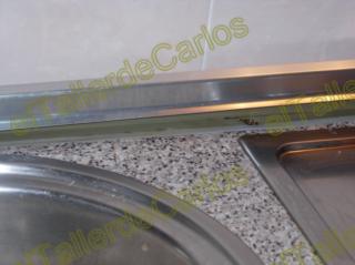 Eltallerdecarlos c mo montar encimera silicona en cocina - Embellecedor encimera ...