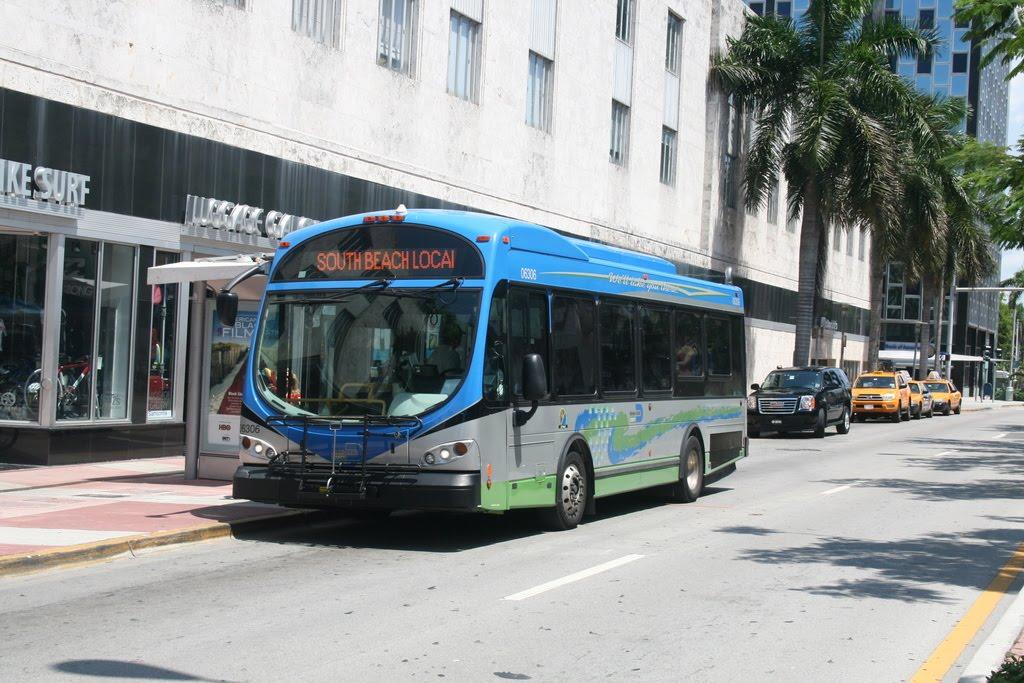 openbaar vervoer wereldwijd: wright bus in miami beach