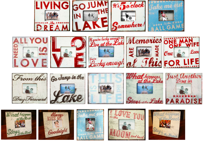 Go Jump In The Lake Rustic Picture Frames From Gojumpinthelakenet