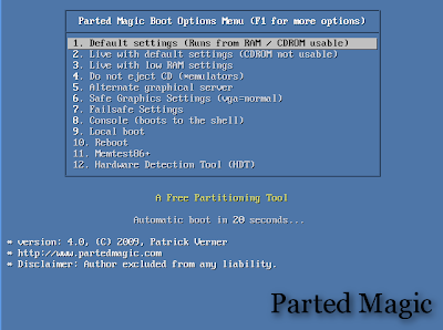 Slackware Linux Blog by İsmail: Parted Magic (A Free