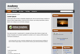 Academy Blogger Template