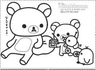rilakkuma coloring pages rilakkuma bear coloring pages