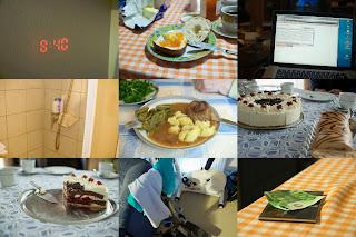 Collage von Bildern vom heutigen Tag