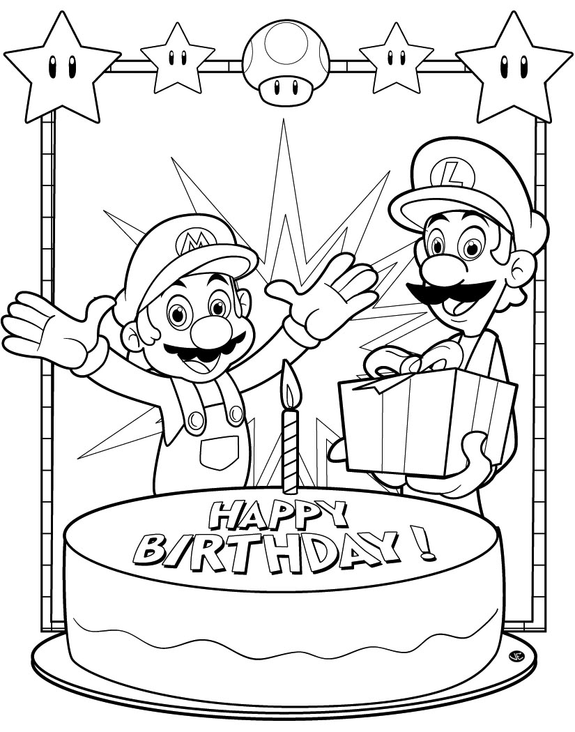 New Coloring | Super Mario Kart Coloring Pages Free | Kids Coloring | 1050x825