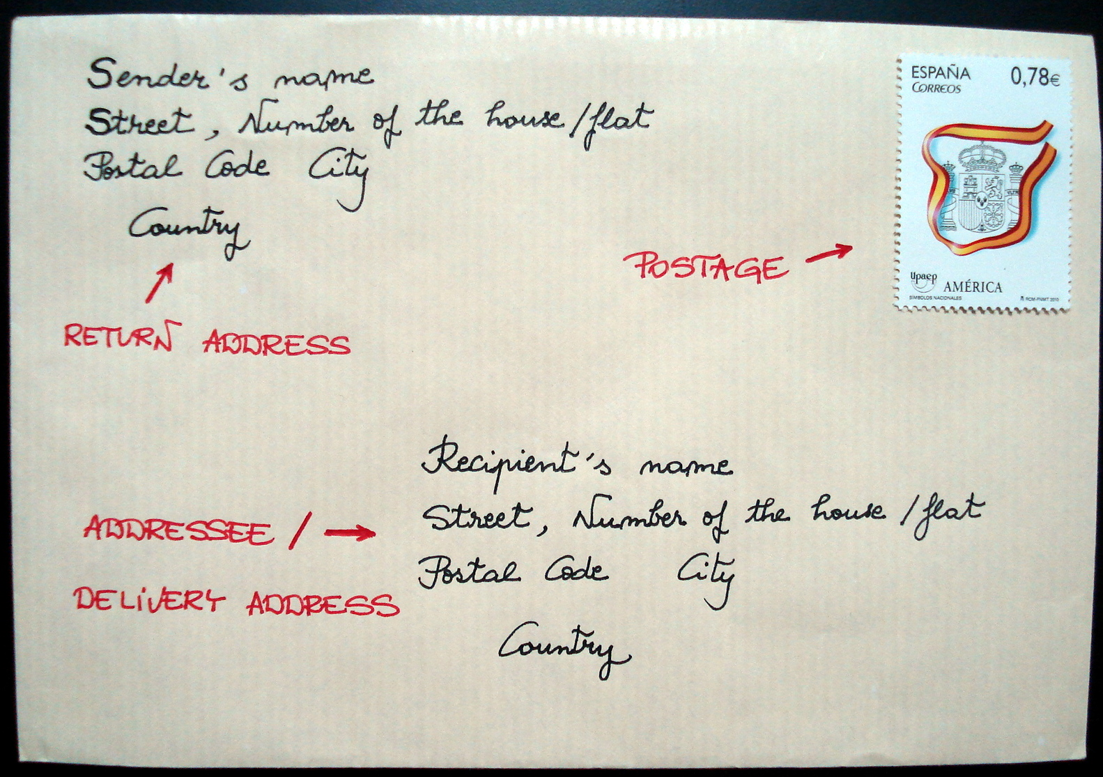Penpalling and Letters How to address an envelope