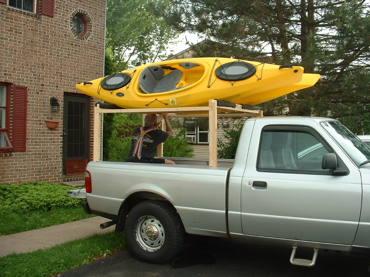 MadKayaker: Home made boat racks