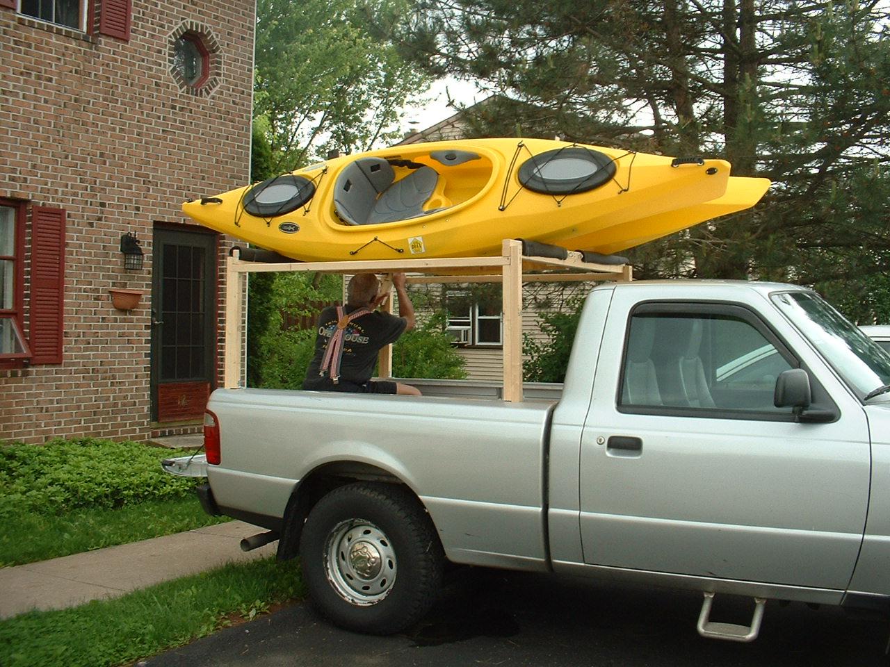 MadKayaker: Home made boat racks
