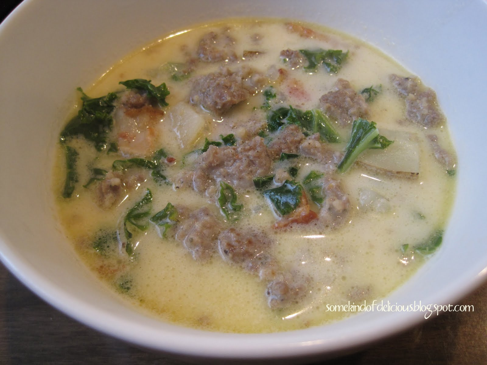 Some kind of delicious zuppa toscana soup - What kind of soup does olive garden have ...