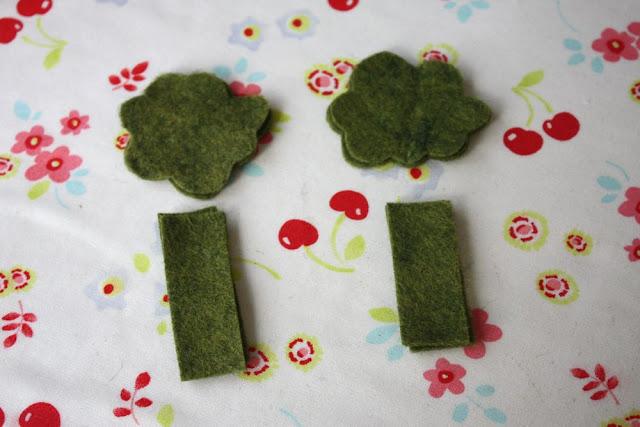 IMG 8060 - Tutorial brócolis em feltro