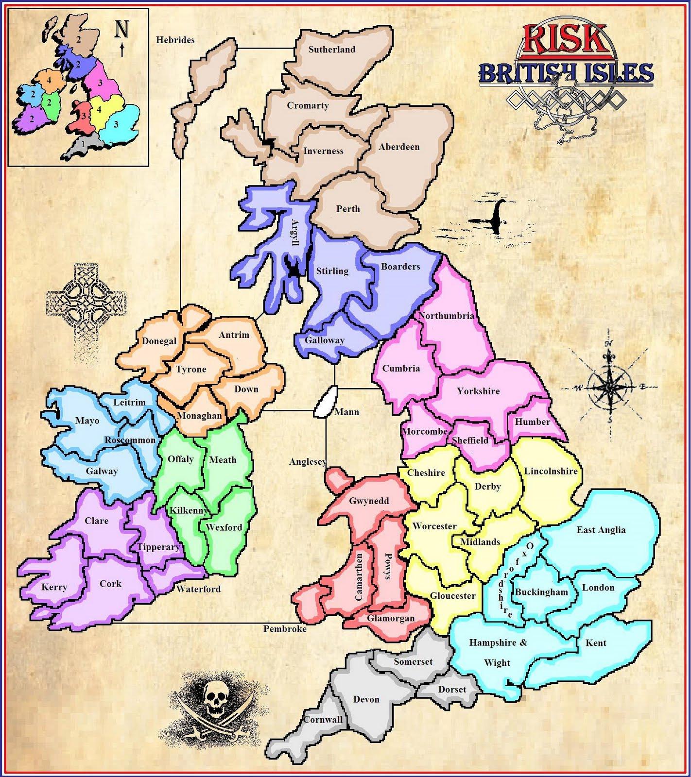 Maps Risk British Isles