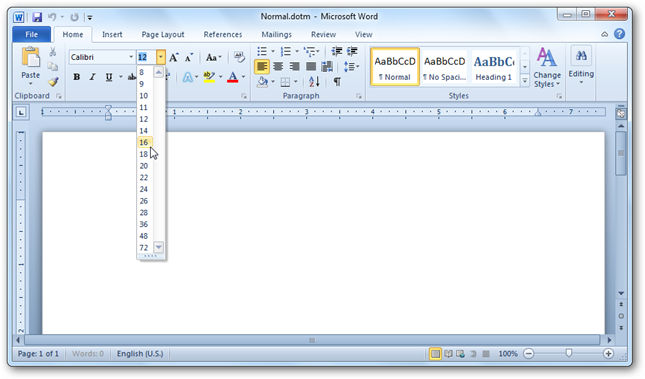 how to change default font in word 2007