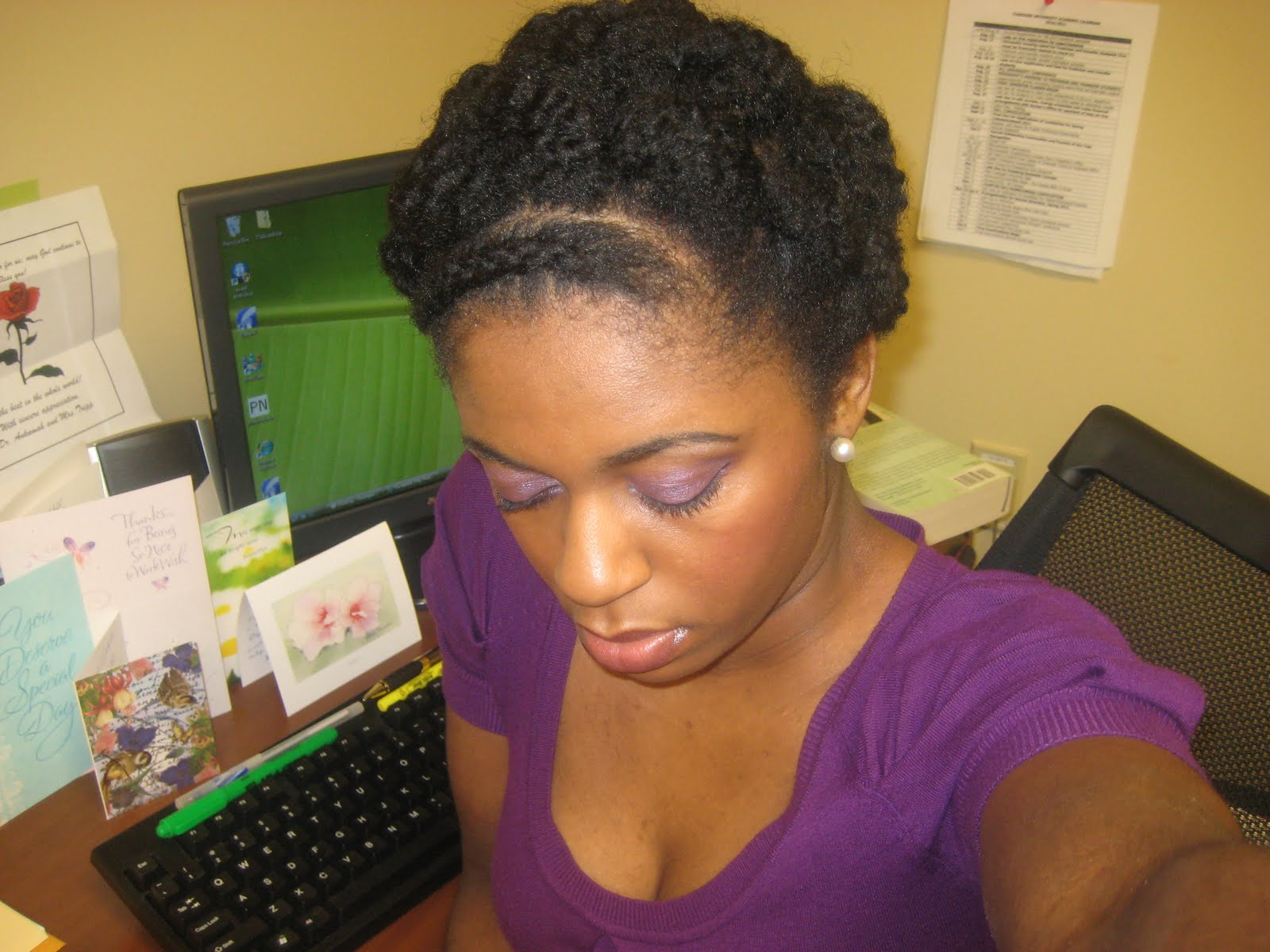 Naturally Elegant: Hairstyle: Twist-Out Updo With A Braid