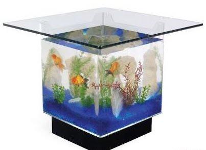 Serenity in Design: Aquarium Table