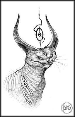 Guthrie Art: Devil Cat