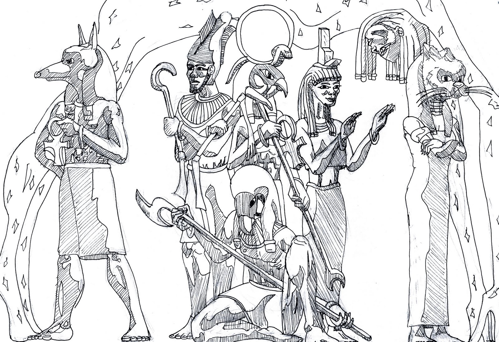 Egyptian Goddess Bastet Coloring Coloring Pages
