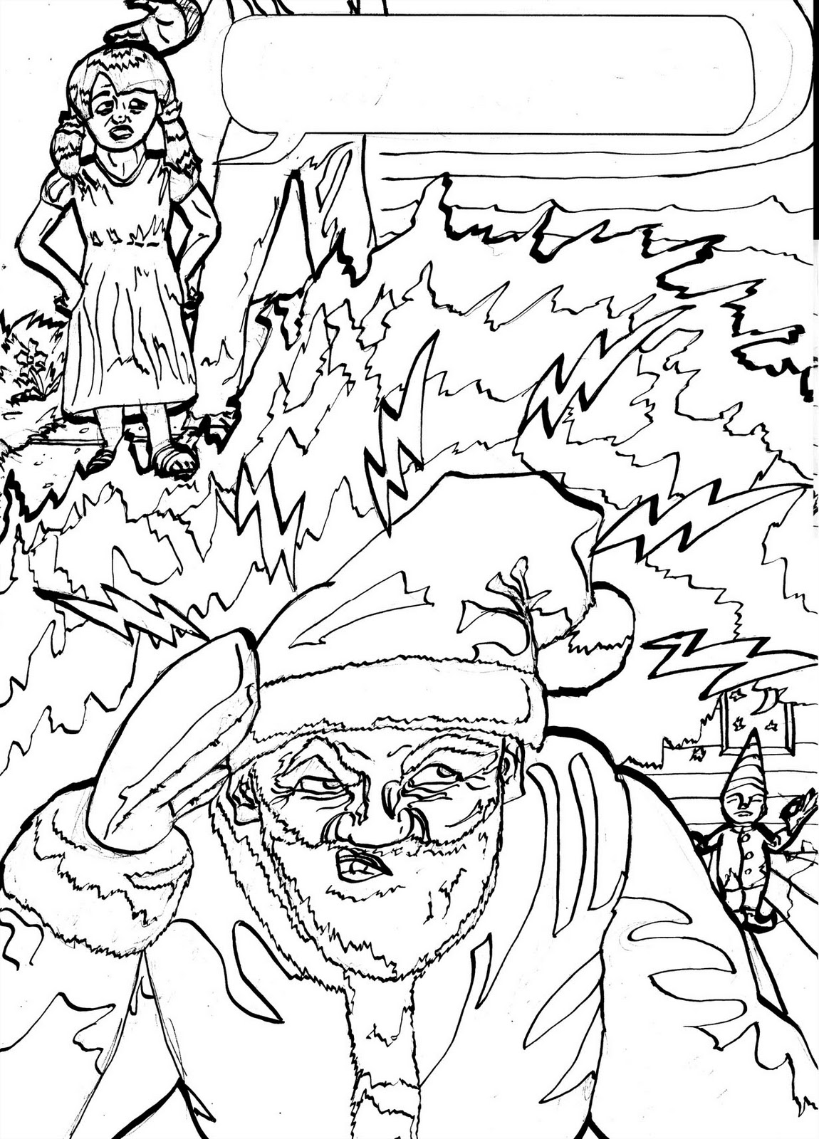 James Mathurin Art: Mind-Reading Santa