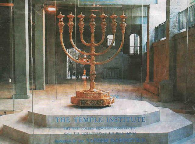 Resultado de imagem para Candelabro e azeite para o Terceiro Templo já estão prontos