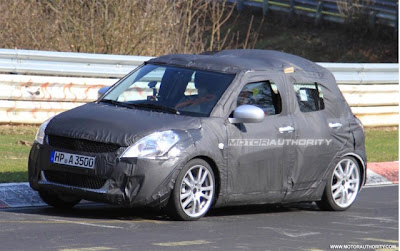 Suzuki Swift Spy Photos Nurburgring