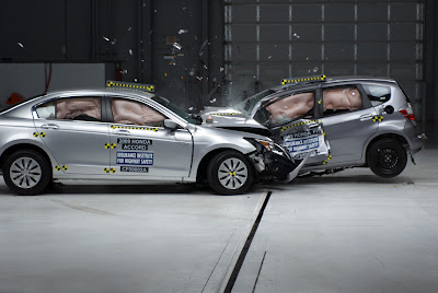 IIHS test: Fit vs. Accord